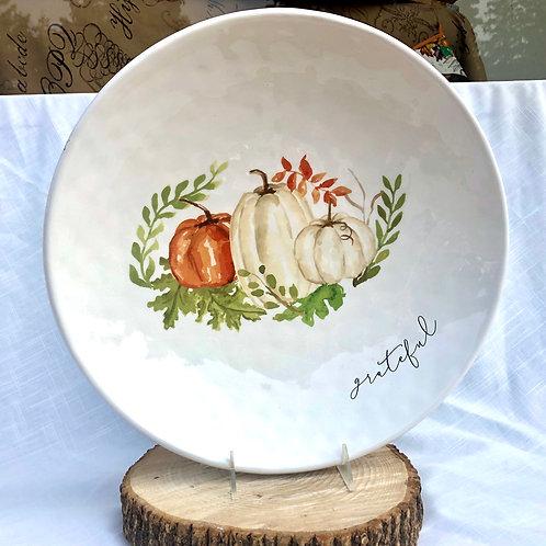 Watercolor Pumpkin Serving Platter