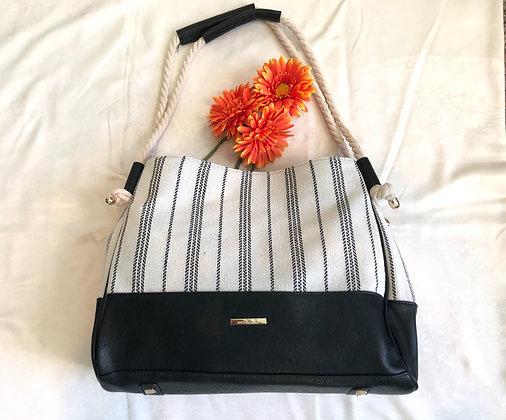 Cream Canvas Handbag