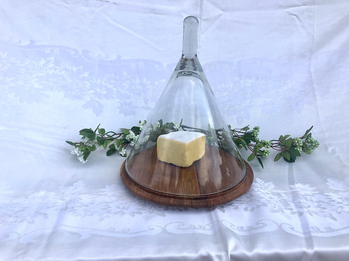 Cheese Board with Glass Cover