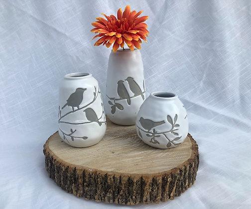 Bird Stoneware Vases