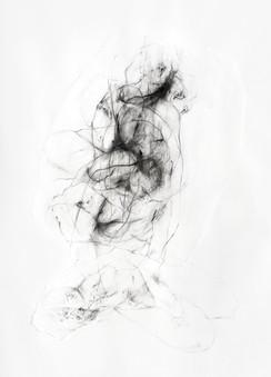 Zwischen Werden und Vergehen Papierüberlagerungen,  Grafit und Acryl auf Papier, 270 x 240 cm 2018