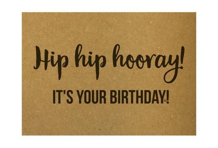 Verjaardagskaartje - Hip Hip Hooray