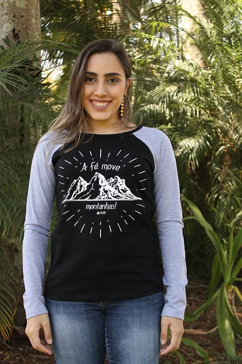 Camiseta fé manga longa