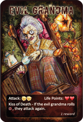 Evil Grandma Card - After London Board Game