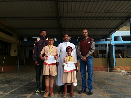 Rosary English School Ajra wins Kolhapur District Athletic awards