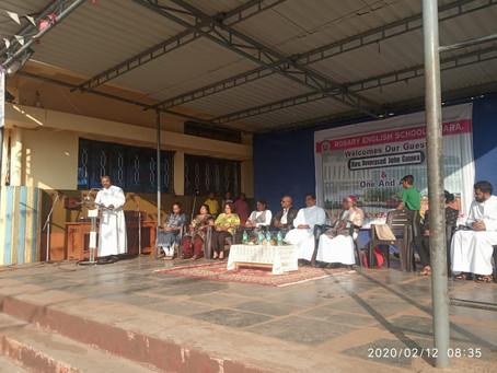 बिशप देवप्रसाद: रोझरी चर्च व रोझरी स्कूल ला सदिच्छा भेट