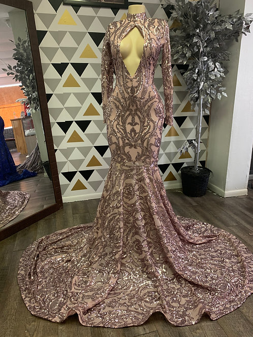 Bella gown (rose gold)
