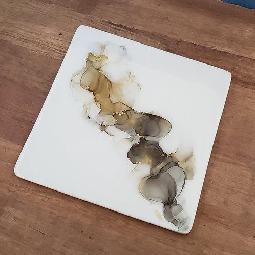 Gold, Buff & Gray Platter