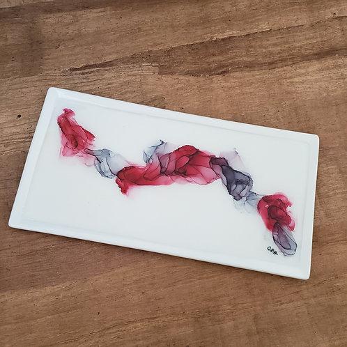 Red & Gray Rectangle Platter