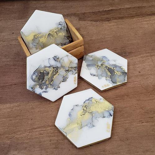 Gold & Gray Coaster/Trivets