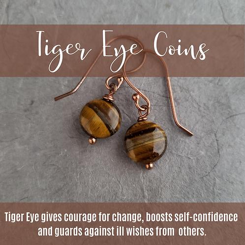 Tiger Eye Coins
