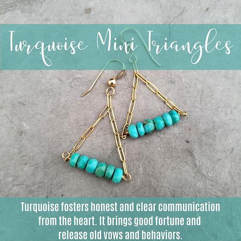 Turquoise Mini Triangles
