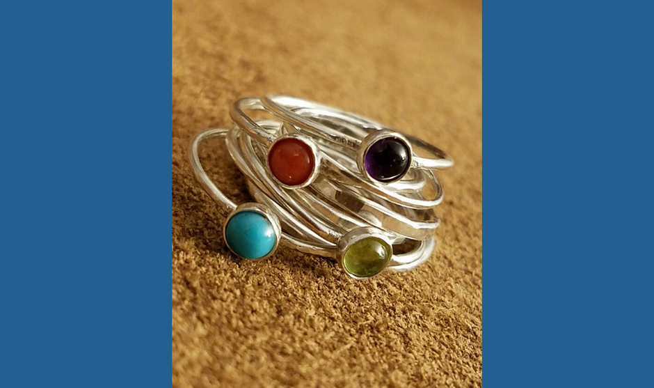 Gemstone Stack Rings