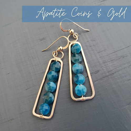 Apatite Coins & Gold