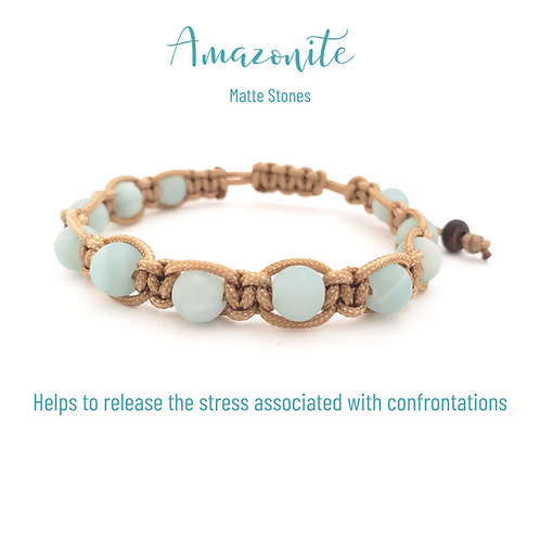 Amazonite Shamballa (Tan)