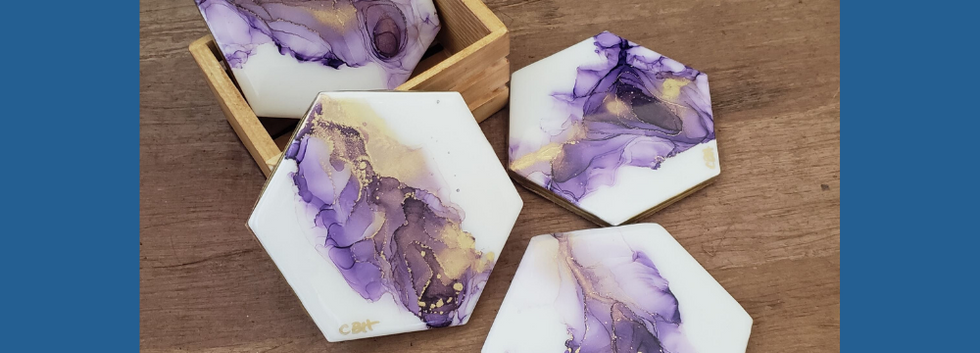 Purple & Gold Coasters