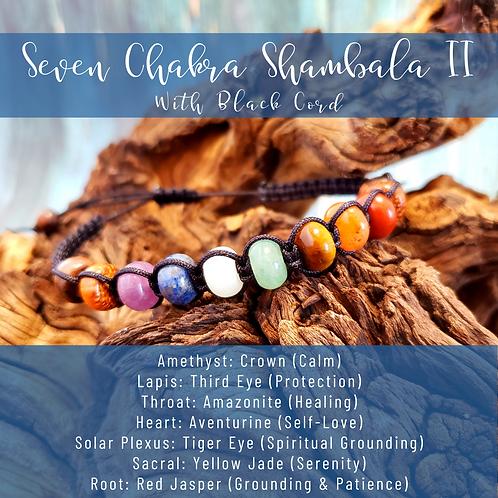Seven Chakra Rondelle Shamballa II (Black)