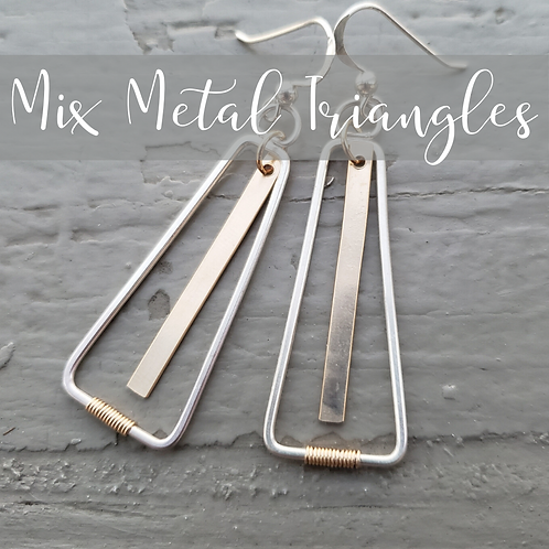 Mix Metal Silver Triangles
