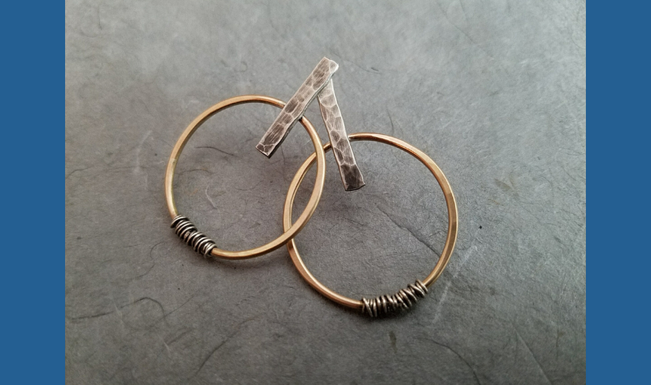Abstract Gold Hoops