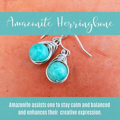 Amazonite Herringbone