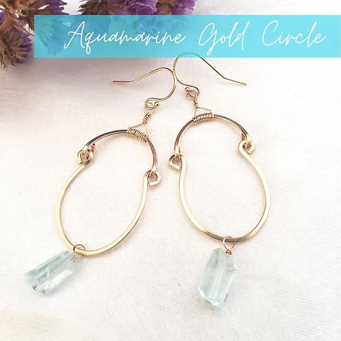 Aquamarine Gold Circles