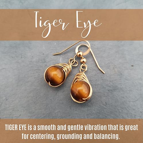 Tiger Eye Herringbone Drops