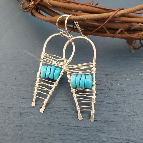 Sterling Silver Turquoise Paddles