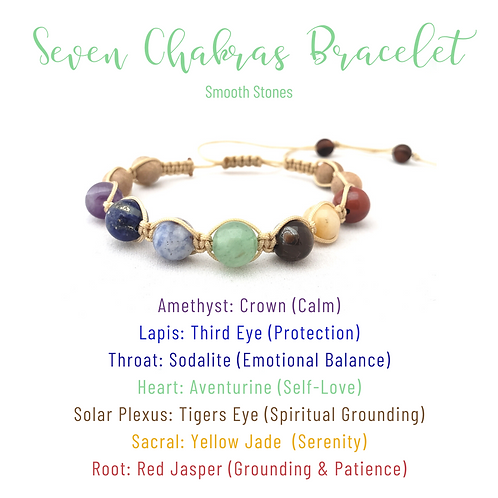 7 Chakra Shamballa Bracelet (Smooth)