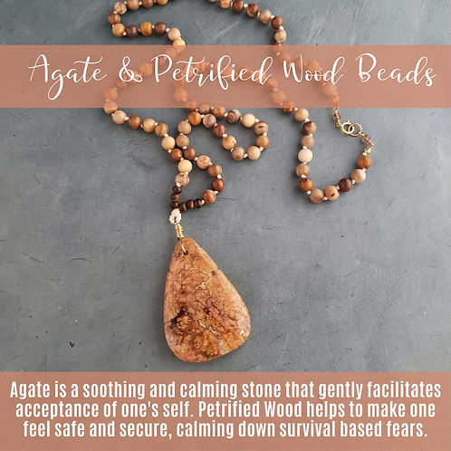 Agate with Petrified Wood