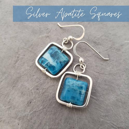 Silver Apatite Squares