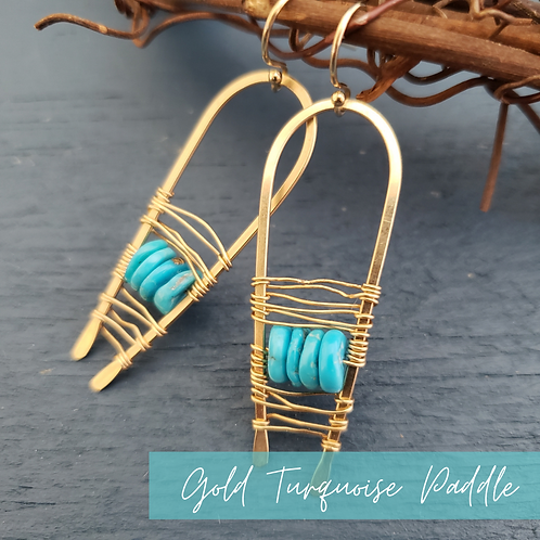 Gold Turquoise Paddles