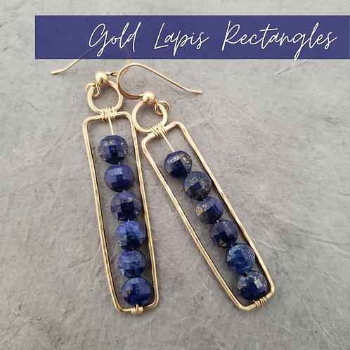 Gold Lapis Lazuli Rectangles