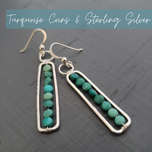 Turquoise & Silver Rectangles
