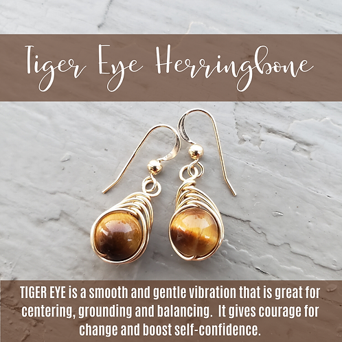 Tiger Eye Herringbone