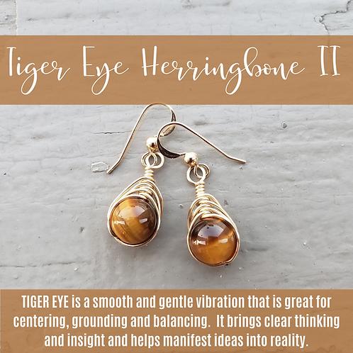 Tiger Eye Herringbone II