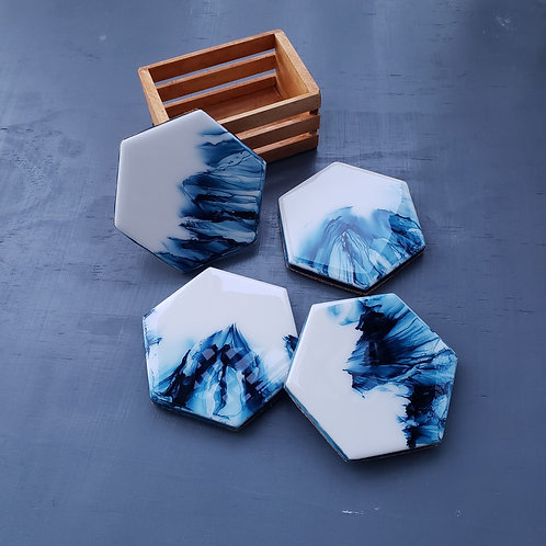 Blue Abstract Coaster/Trivets