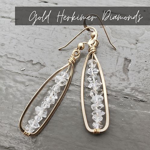 Gold Herkimer Diamonds