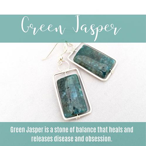 Green Jasper Rectangles