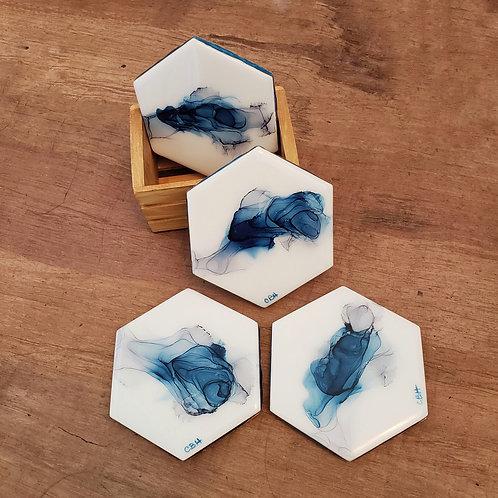 Blue & Gray Coaster/Trivets