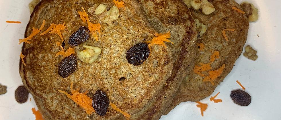 Fluffy Carrot Cake Pancakes