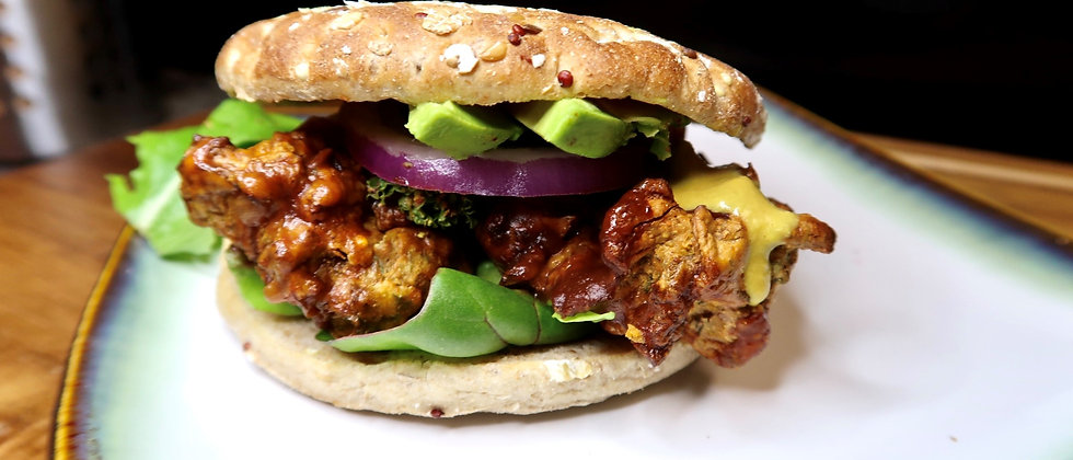"Crispy ""Chicky"" Mushroom Sandwich"