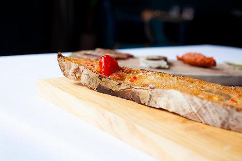 Sourdough Bread with Tomato and Olive Oil