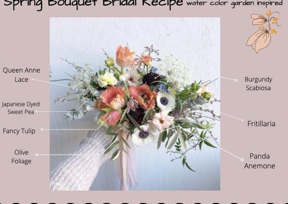 Spring Garden Inspired Bridal Bouquet Recipe