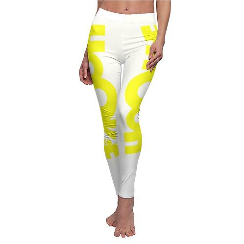 HookieLife Women's Casual Leggings (Sunshine Yellow Emblem)