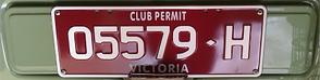 Club Permit Registration Plates