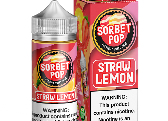 Sorbet Pop Straw Lemon