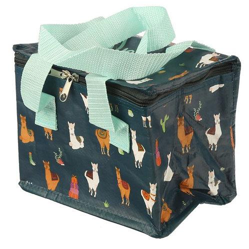 navy blue llama Lunchbox