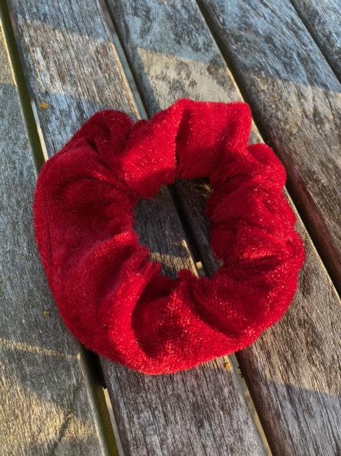 vivid red  scrunchie