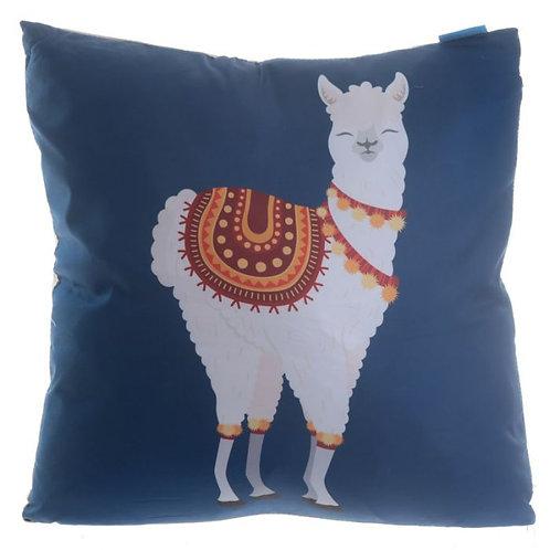 llama navy pillow + case