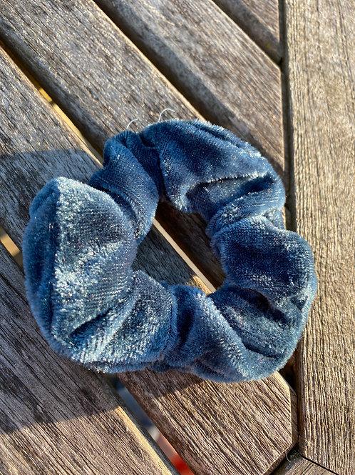 dark aqua scrunchie